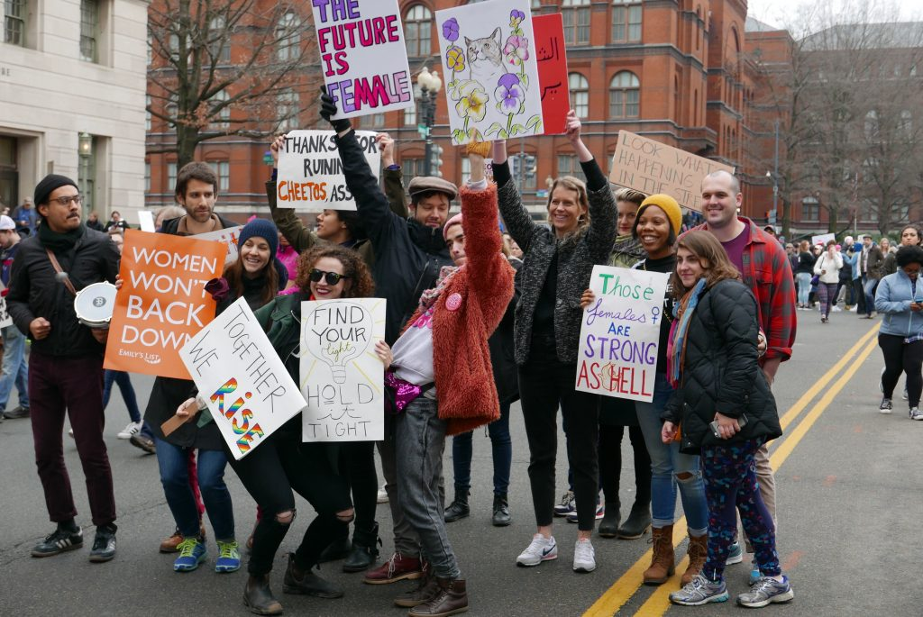 Hopeful, defiant atmosphere pervades Women's March