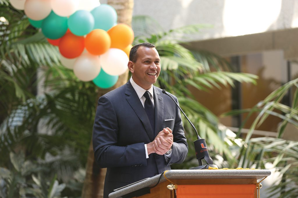 Alex Rodriguez donates $500,000 to UM School of Business