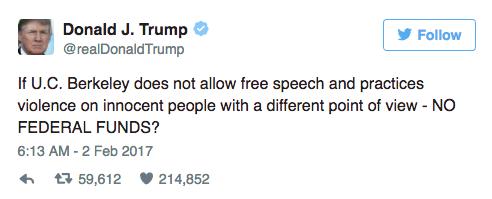 Trump's threat towards UC Berkeley threatens academic freedom