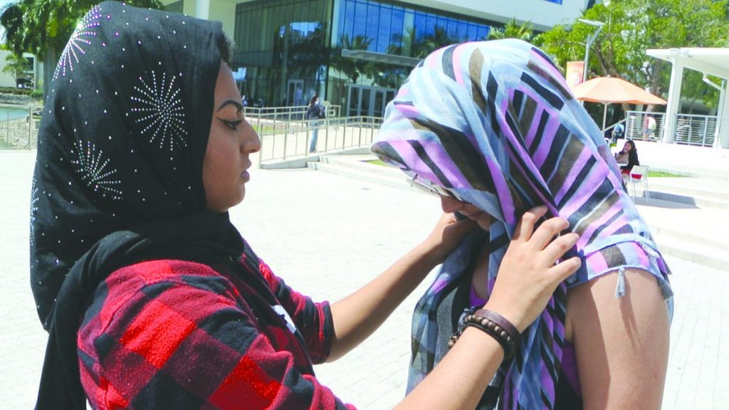 Students divided over free speech, Islam at Hijab-a-Thon