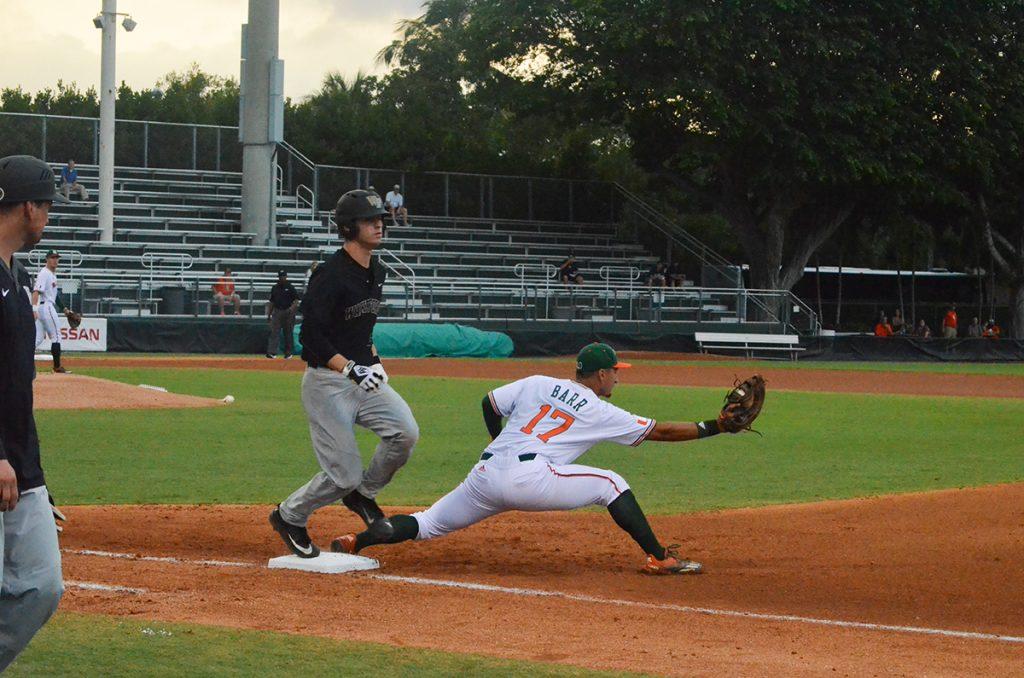Canes stumble late, fall to No. 9 Florida Gulf Coast Eagles 3-0