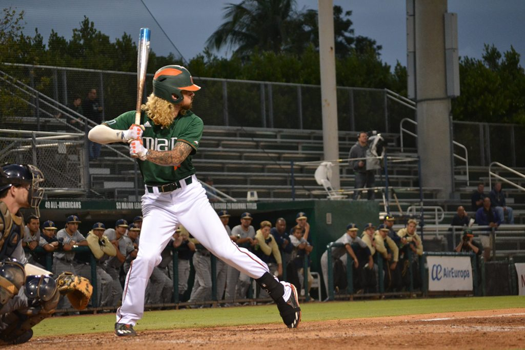 Hurricanes manage just three hits, lose to FIU Panthers 12-1