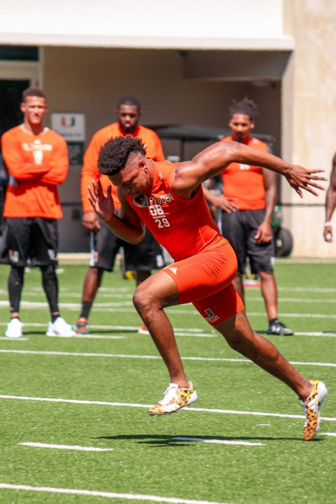 Video: Miami Hurricanes put on show at Pro Day in preparation for 2017 NFL Draft