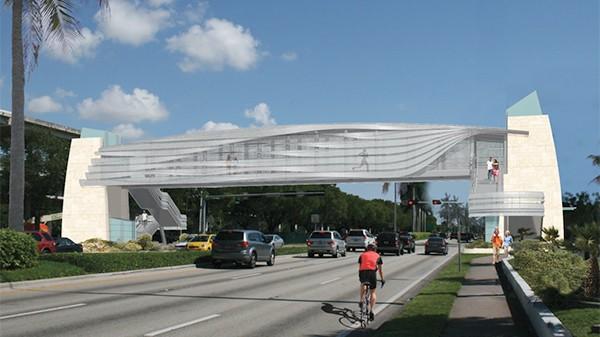 Pedestrian bridge over U.S. 1 scheduled to open in May or June after delays