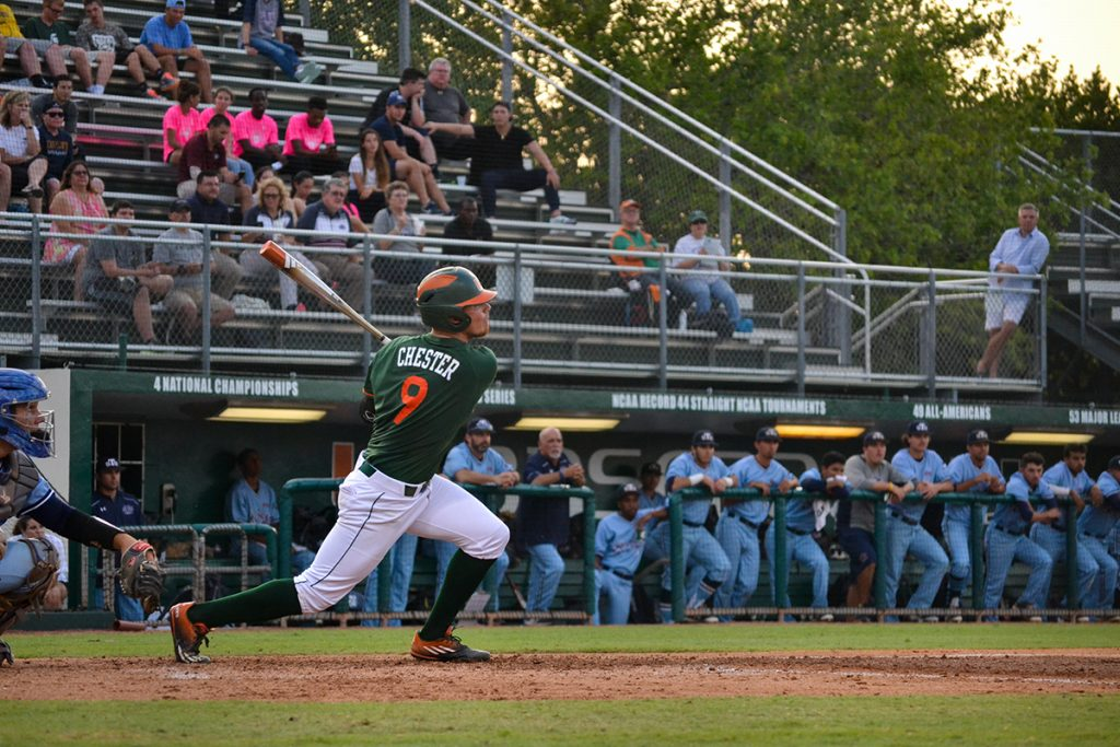 Miami collects eight hits, blows out St. Thomas 14-2