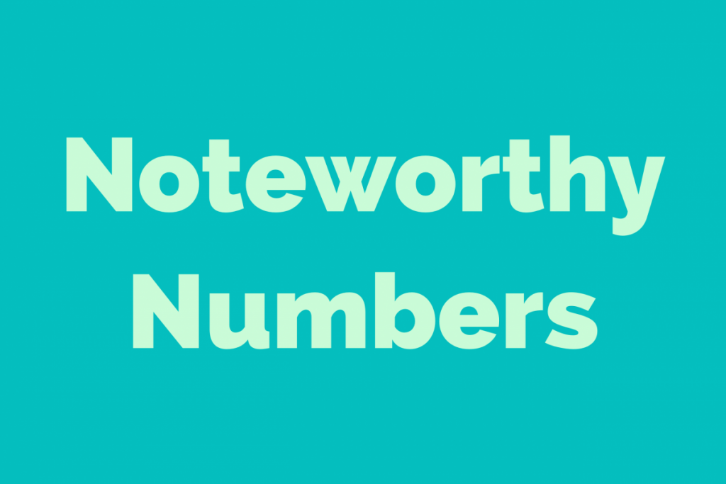 Noteworthy Numbers: Stats from a year of reporting