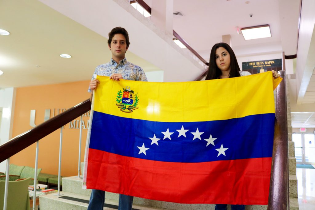 Venezuelan students help their homeland from afar