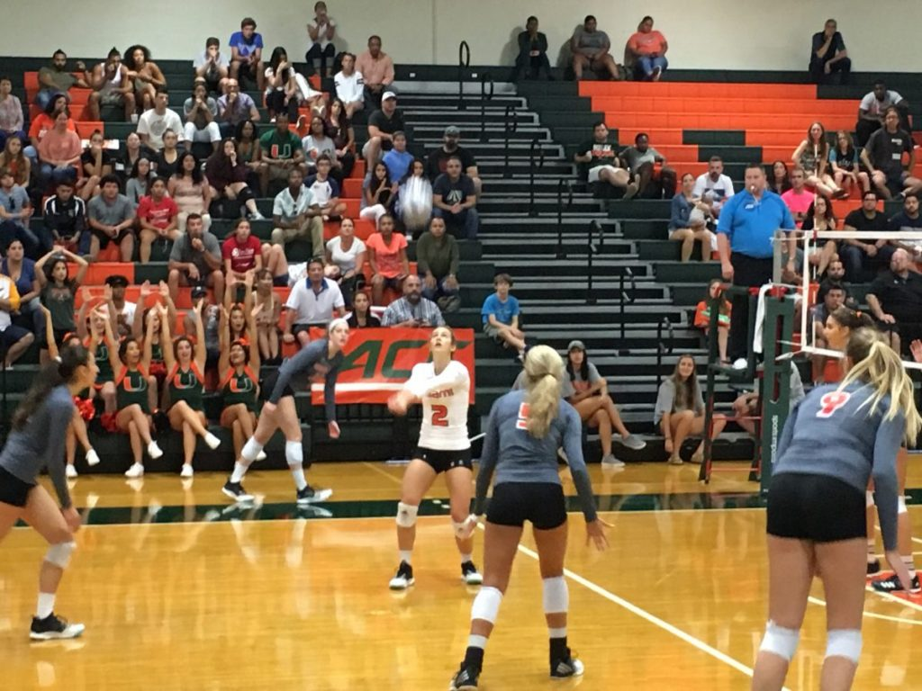 Canes volleyball stays undefeated with 3-2 win over Virginia, 3-1 win over Notre Dame