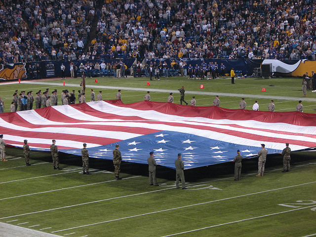 The NFL supports hatred toward America by kneeling during anthem