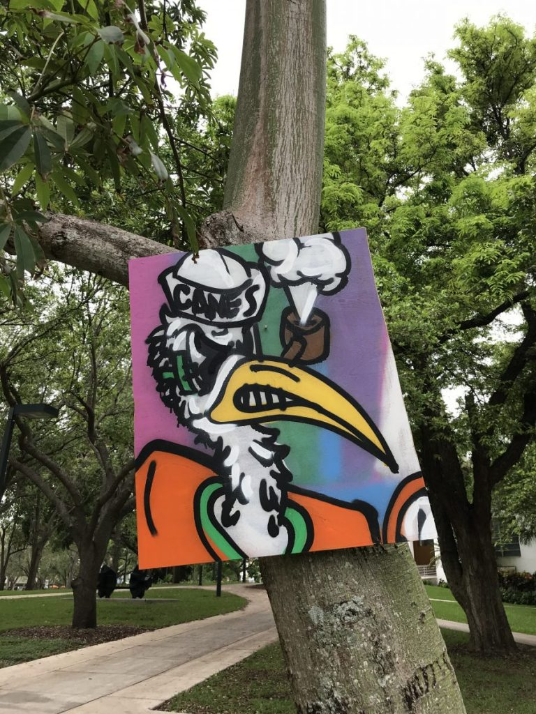 Mural artist gone viral leaves free art around campus to thank Miami