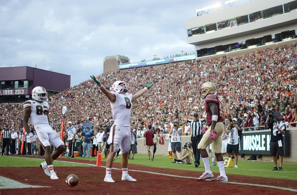 No. 13 Miami Hurricanes defeat Florida State Seminoles for first time in eight years