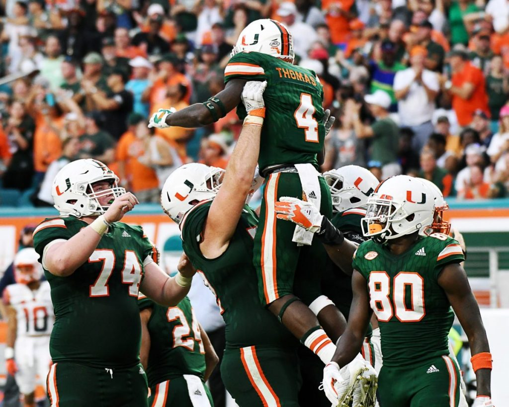 No. 8 Miami outlasts scrappy North Carolina for 24-19 victory