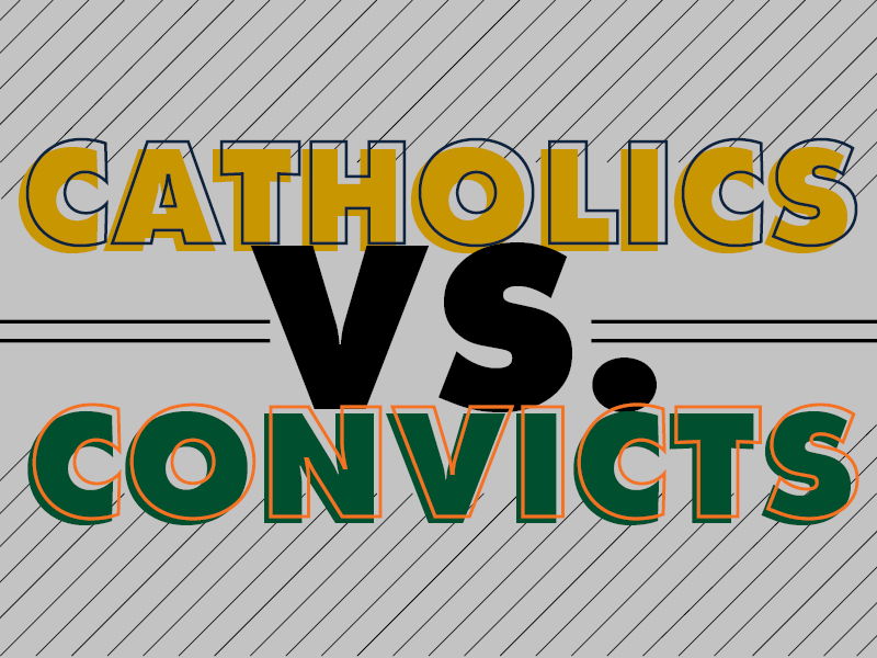 Catholics vs. Convicts: Notre Dame rivalry reminds fans of Canes history