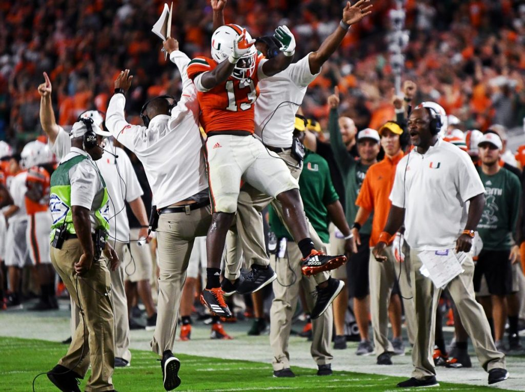 Canes football rises to No. 2 in College Football Playoff rankings