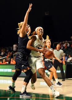 Myisha Hines-Allen, Louisville snap UM winning streak