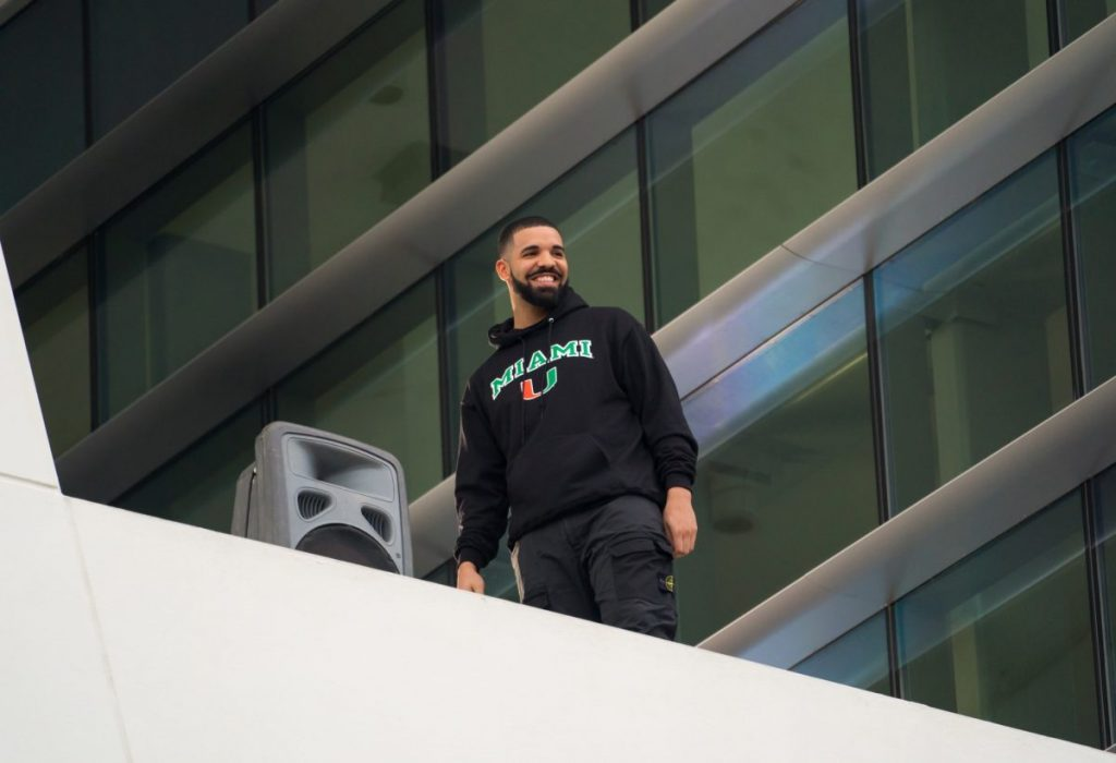 Drake makes surprise visit to campus to present scholarship, perform