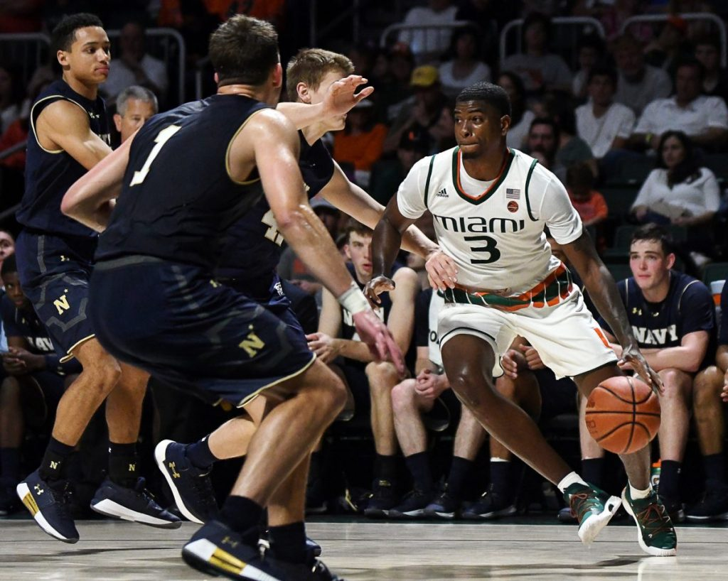 Career day for Anthony Lawrence II leads Miami past Virginia Tech