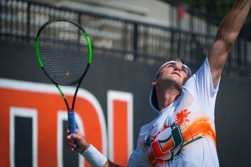 Canes tennis goes 2-0 in doubleheader