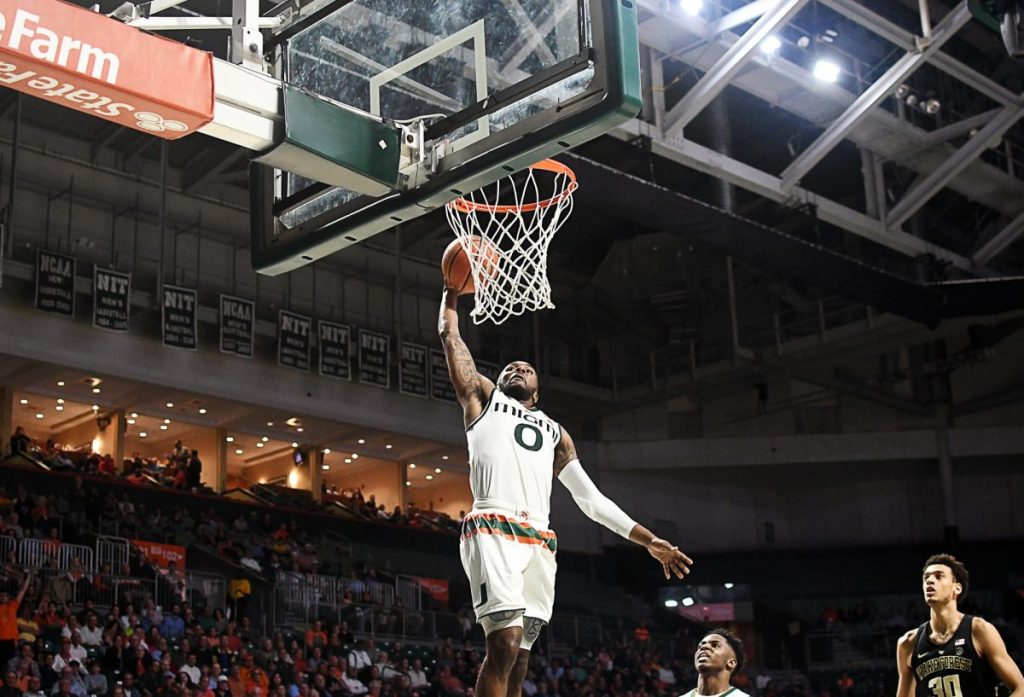 Five Hurricanes score in double-figures in Miami win over Wake Forest