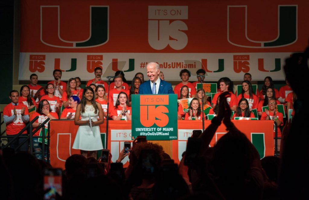 "Biden praises Frenk, calls on students to change ""cultural norms"" at It's On Us rally"