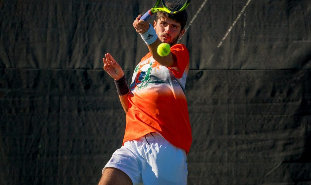 Macedonian-born freshman builds on his tennis prestige in US