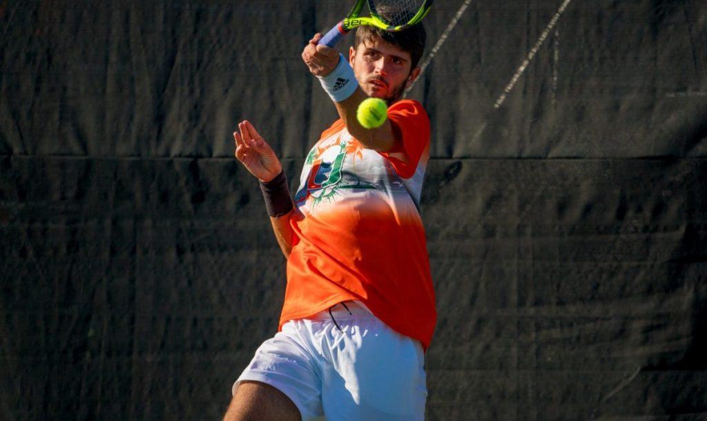 Macedonian-born freshman builds on his tennis prestige in US