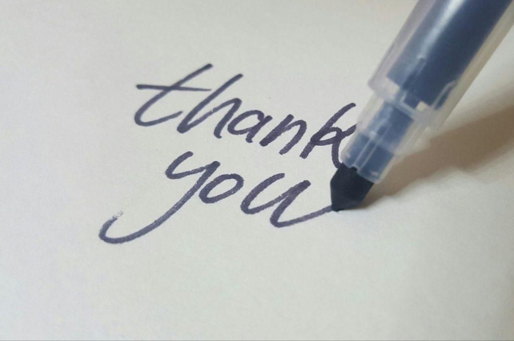 Dear teachers: Thank you