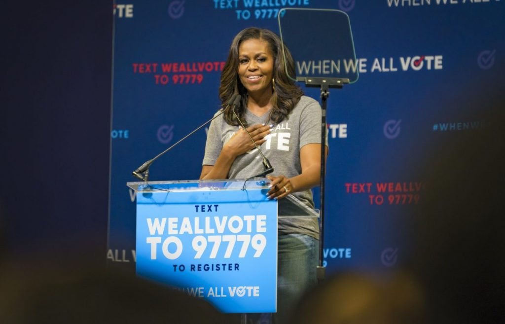 Michelle Obama speaks on campus, encourages audience to vote