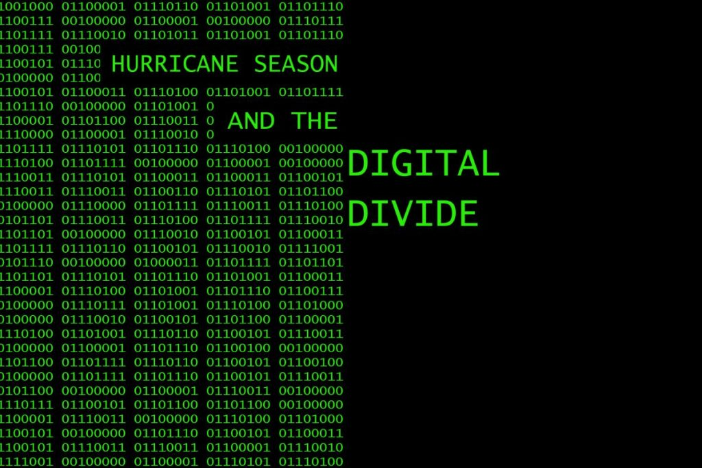 Digital divide hampers hurricane preparedness
