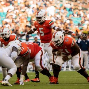 N'Kosi Perry, Hurricanes' defense and Mike Harley excel in win against FIU