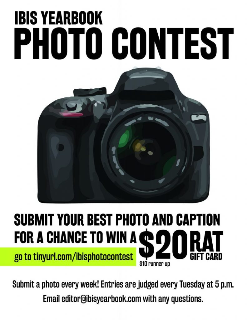 Ibis Yearbook to offer weekly prizes for best photo submissions