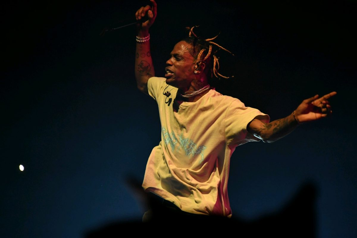 15be94fc0b86 Rapper Travis Scott performs at the American Airlines arena in Miami on  Sunday, Nov. 11. Photo credit: Vladimir Lorenzo