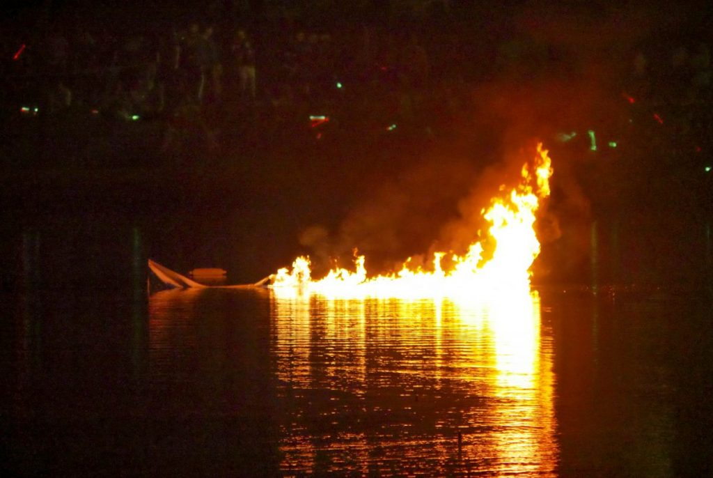 UM celebrates community at annual boat burning ceremony