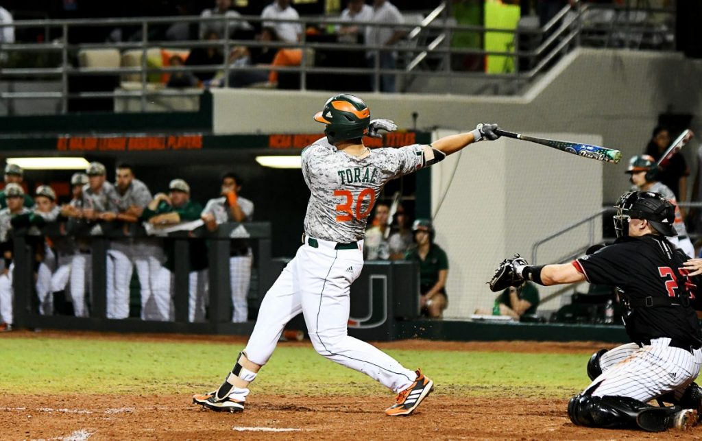 Toral homers, Miami clinches series victory over Rutgers