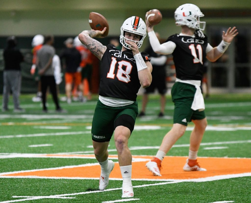 Tate Martell grew up wanting to be a Miami Hurricane