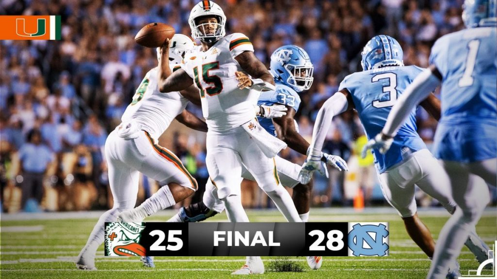 Hurricanes lose to Tar Heels, start season 0-2
