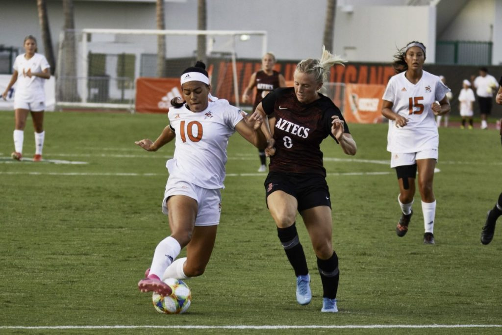 Women's soccer team opens season with tie against San Diego State