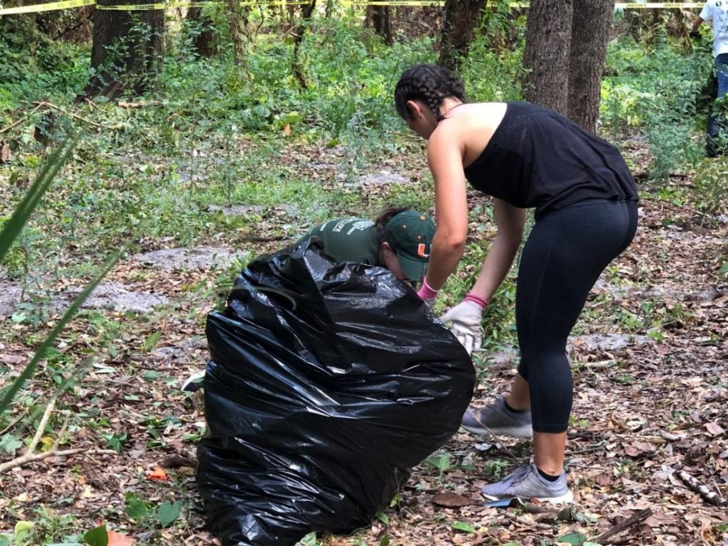 Students help restore Kendall Indian Hammocks park on Gandhi Day