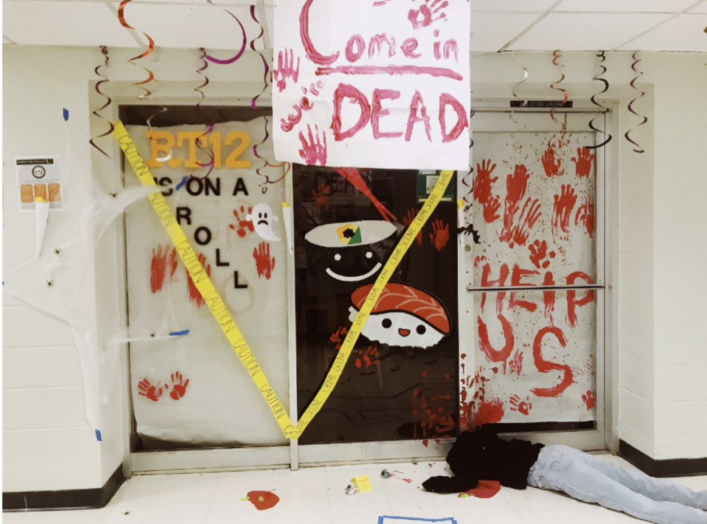 Stanford Walsh 9 wins Halloween dorm decorating contest