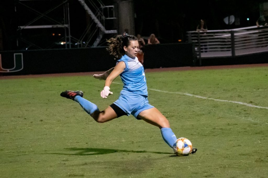 Canes Women's Soccer defense collapses in defeat to reigning champions