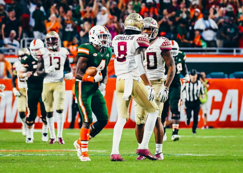 Miami defense asserts dominance in 27-10 win over Florida State