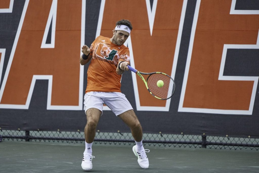Canes overcome weather, College of Charleston for opening match sweep