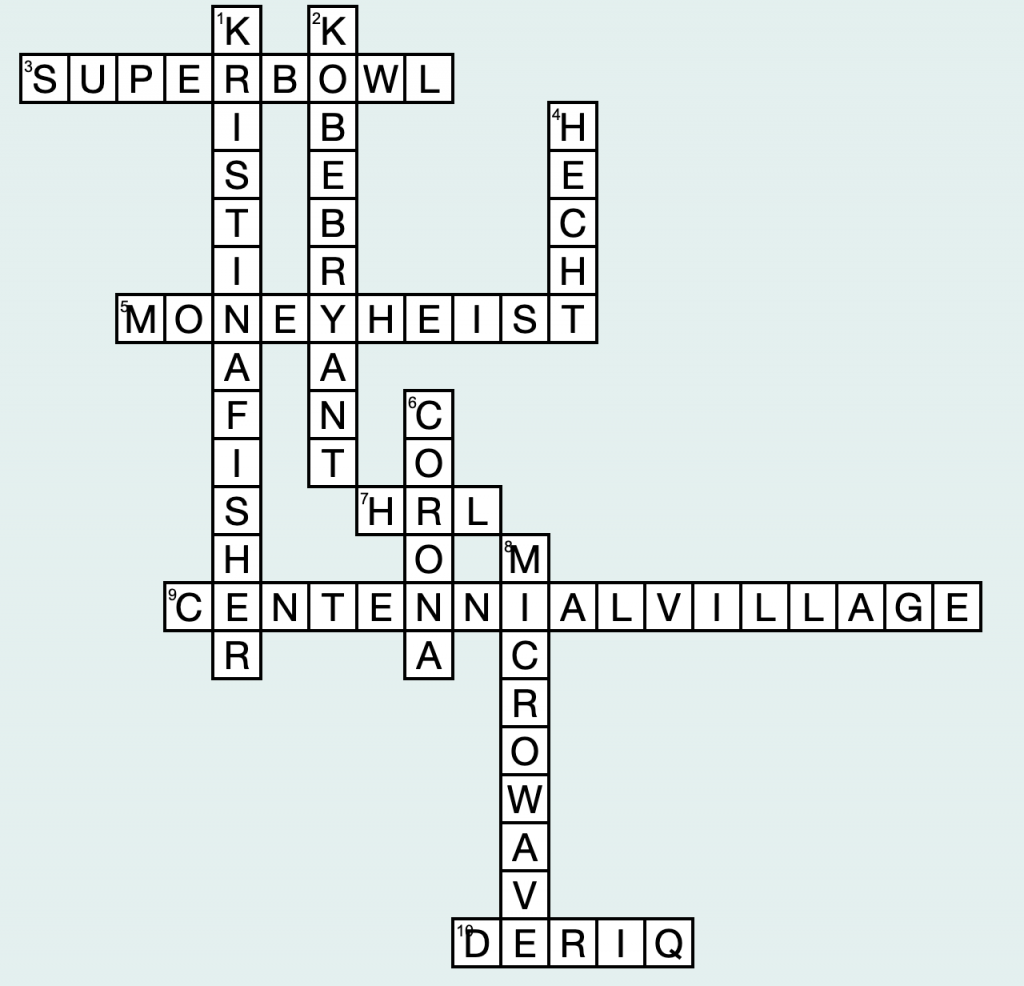 Crossword answers: Jan. 28-Feb.  3