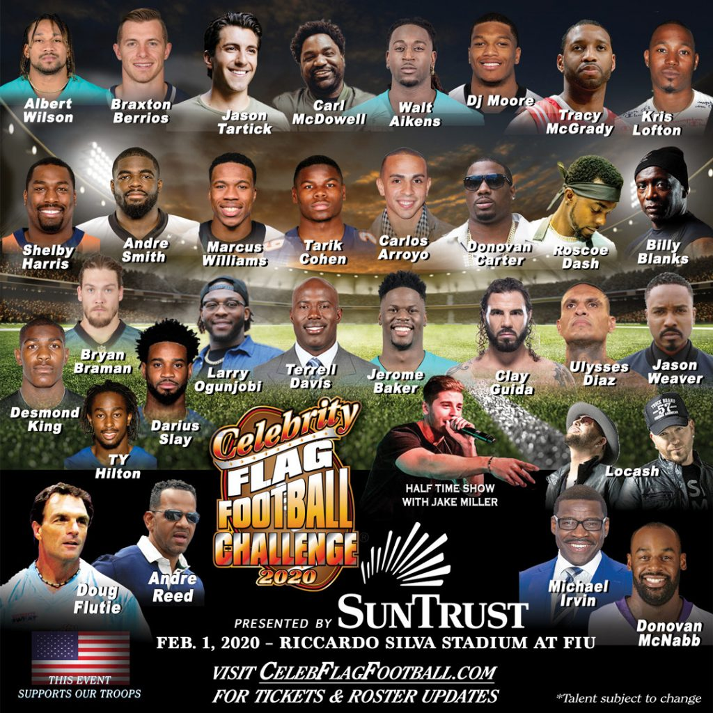 Celebrity Flag Football Game coming to Miami for SuperBowl weekend
