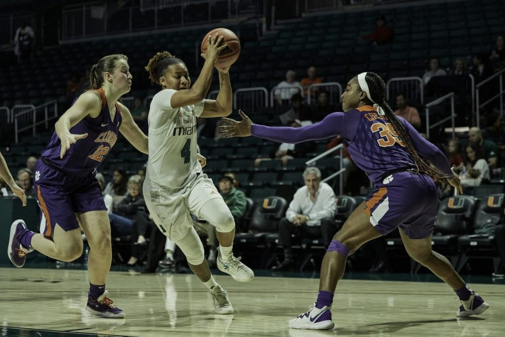 Gallery: Women's basketball holds onto lead to defeat Clemson