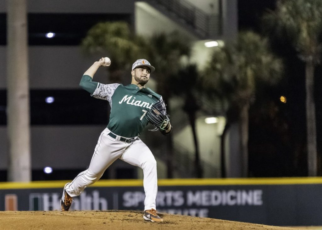 Chris McMahon threw a career-high 12 strikeouts in 6.2 innings.