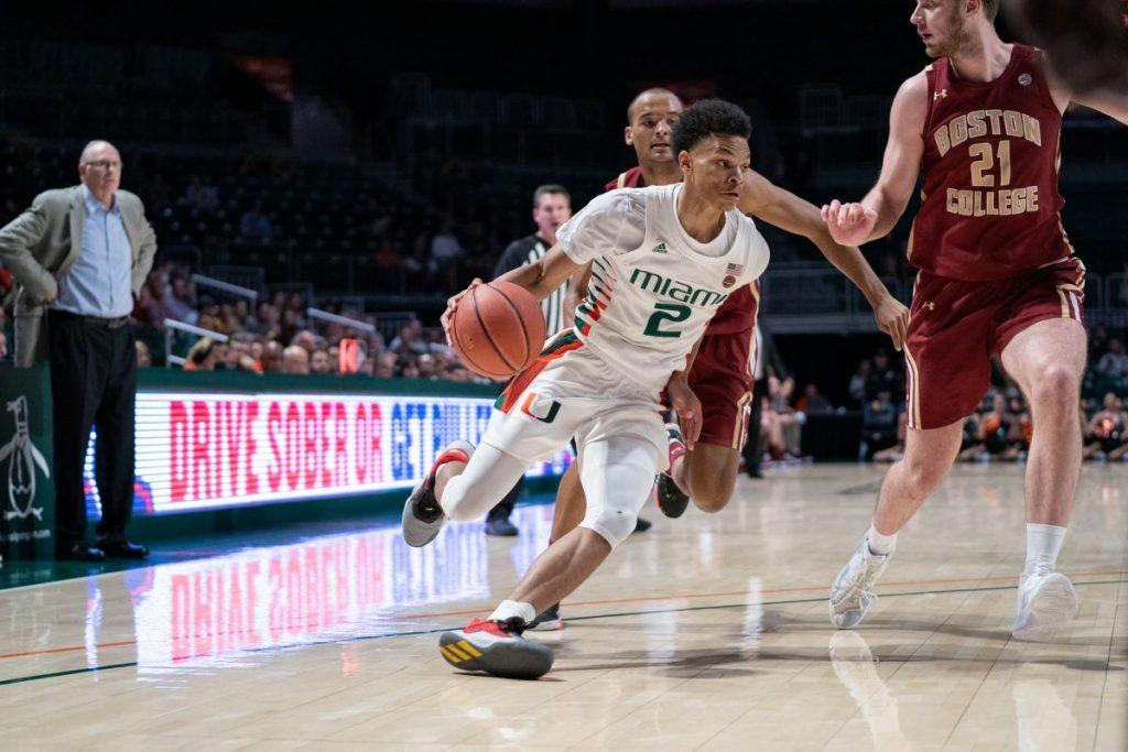 Behind freshman Isaiah Wong, Hurricanes roll past Boston College