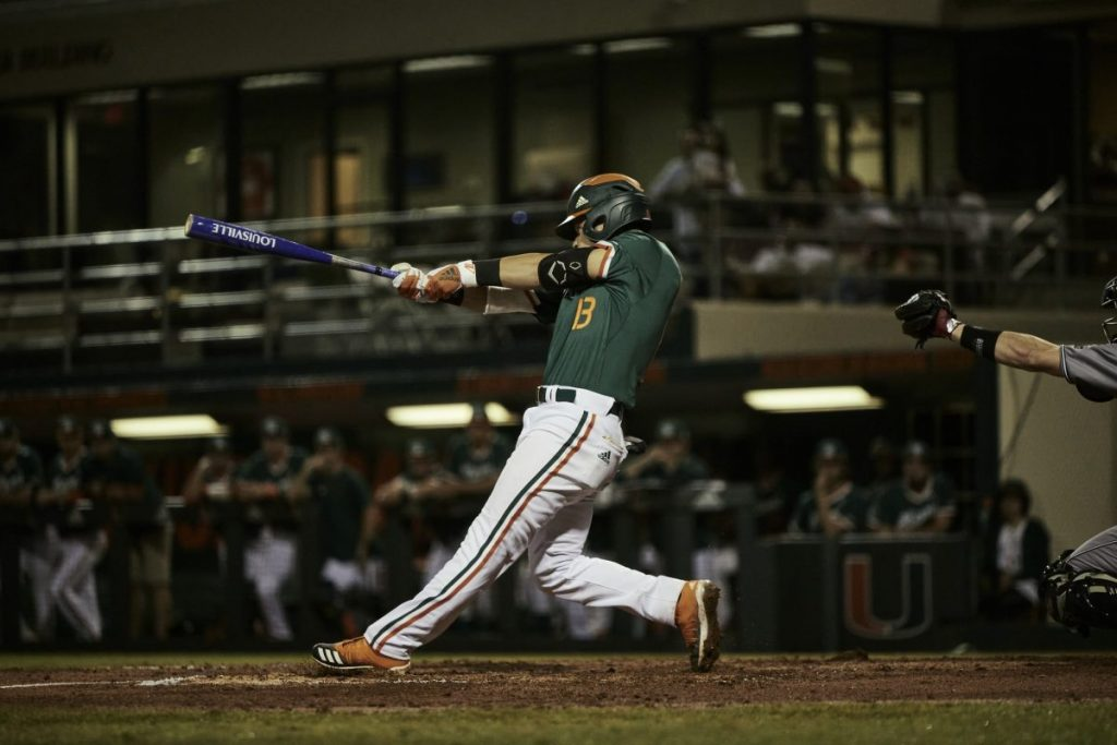 No. 3 Miami completes sweep of Rutgers with 13 run outing