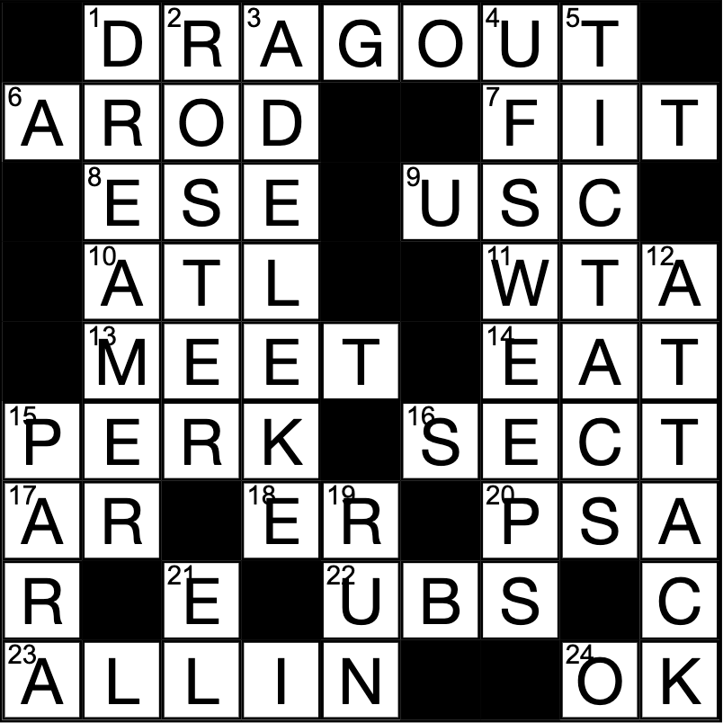 Crossword answers: Feb. 25 – March 2