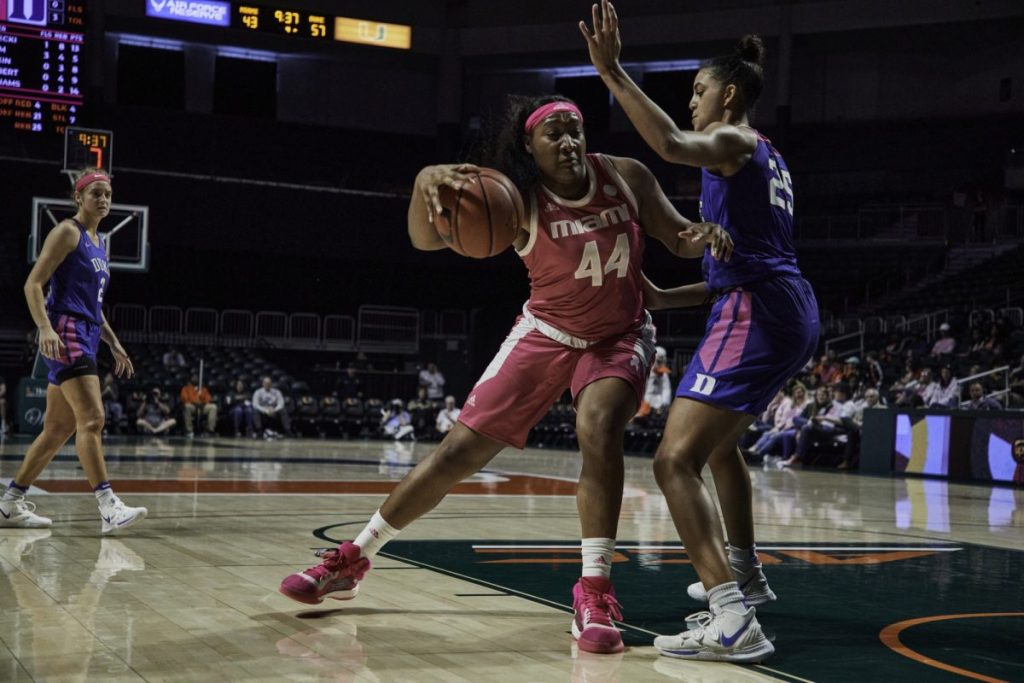 Hurricanes fall to Duke in annual pink game